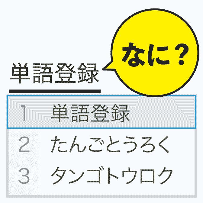 単語登録って何? →「おt」で「お疲れ様です。」を入力できるようにする機能