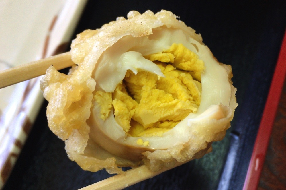 「味付きゆで卵」の天ぷら