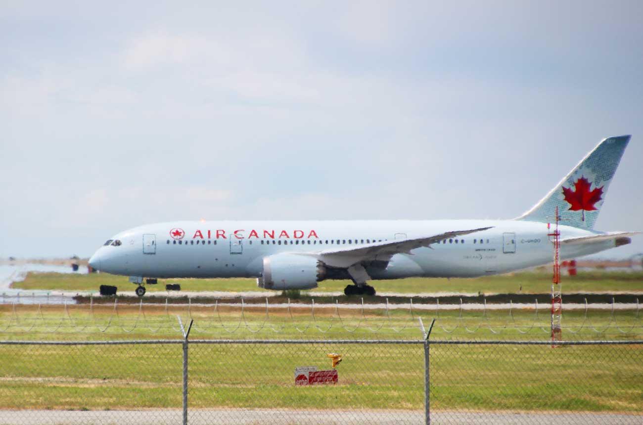 エアカナダの飛行機